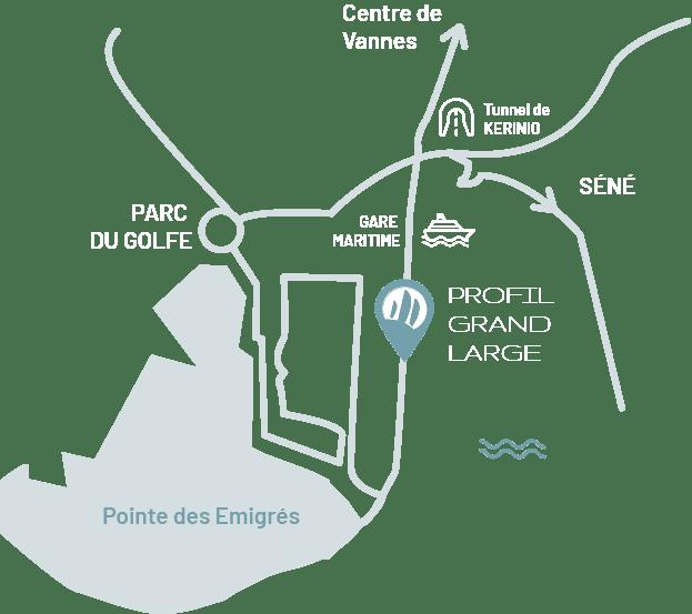 profil grand large à vannes près du tunnel de ténénio